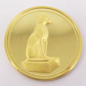 Aegypten 100 Pounds The Golden Cat 1989 Egypt Gold