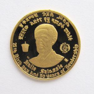 Äthiopien 10 Dollar Goldmünze 1966 Ethiopia Haile Selassie I.