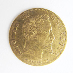 Frankreich 5 Francs Gold Napoleon 1867 Sammlermuenze