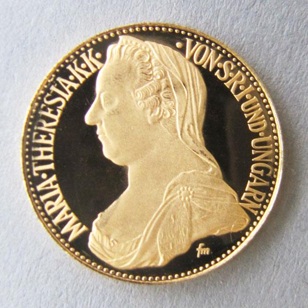 österreich Maria Theresia Goldmünze 900 Sri Ungarn Aurum