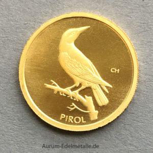 20 Euro Goldmünze 2017 Pirol 9999 Feingold heimische Vögel