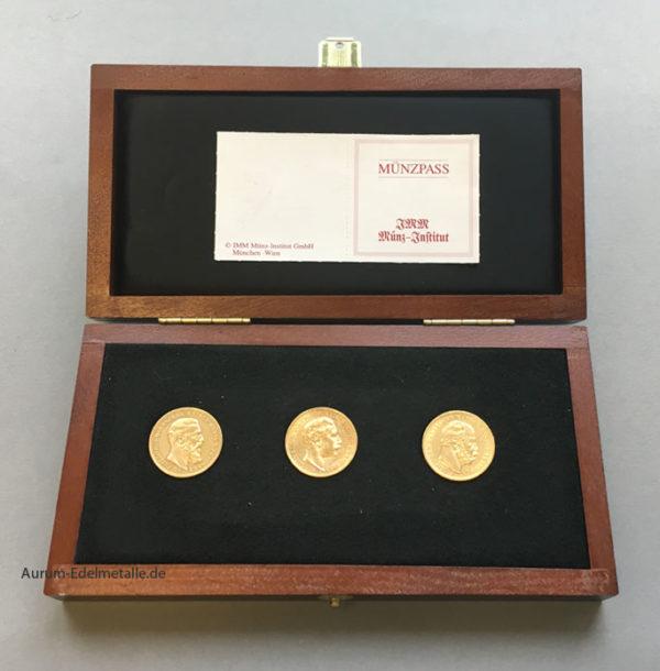 Goldmünzenset Drei Kaiser Jahr 1888