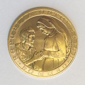 50 Euro Gold Österreich 2003 Barmherziger Samariter