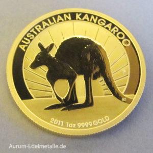 Australien 1 oz 100 AUD Kangaroo Goldmünze 2011 Feingold 9999
