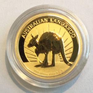 Australien Kangaroo Nugget 1_10 oz Feingold 9999 Anlagegold 2011
