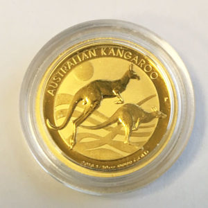 Australien Kangaroo Nugget 1_10 oz Feingold 9999 Anlagegold 2018