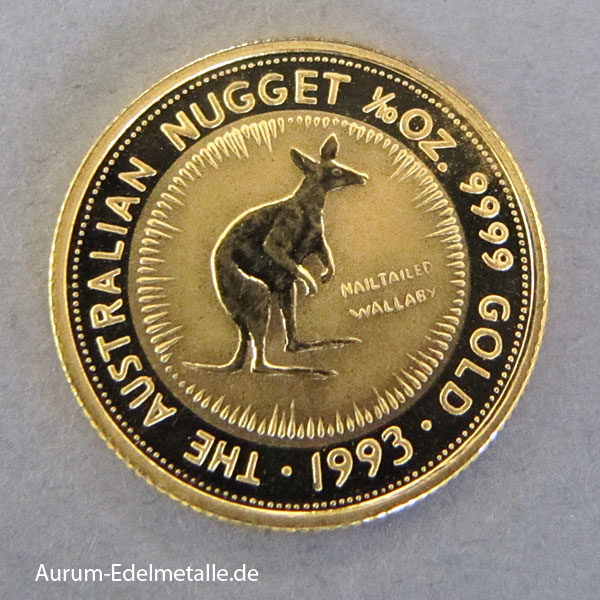 Australien Nugget Kangaroo 1_10 oz Feingold 1993