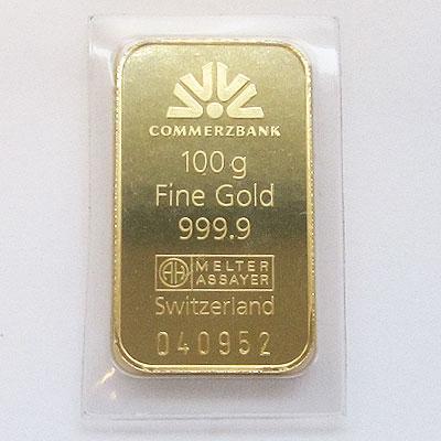 Commerzbank Goldbarren 100g Feingold 9999