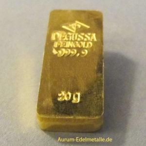 Degussa-20g-kastenbarren-Feingold-9999-alte-form