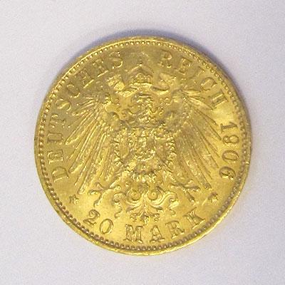 deutsches reich 20 mark gold