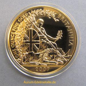 England Britannia 100 Pounds 1 oz Feingold 2007