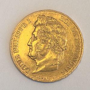 Frankreich 20 Francs Louis Philippe I Goldmünze 1840