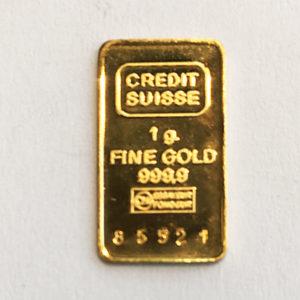 Goldbarren 1g Feingold 9999 Credit Suisse Schweizer Hersteller