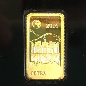 Goldbarren Petra-Schatzhaus des Pharao-1g Feingold Salomonen