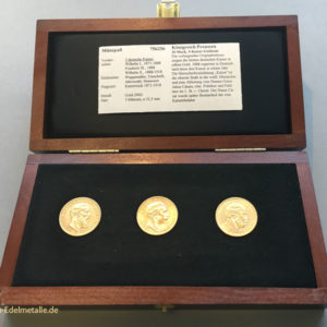 """Goldmünzenset """"Drei Kaiser Jahr 1888"""