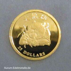 Liberia 25 Dollars Gold 2003 Panda