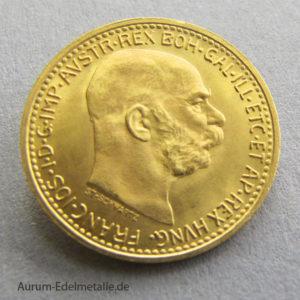 Österreich-10-Kronen-Gold-Franz-Josef-1912 10 Corona