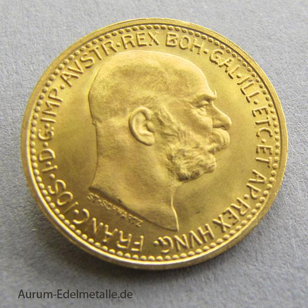 österreich 10 Kronen Gold Kaiser Franz Josef 1912 Corona 1912