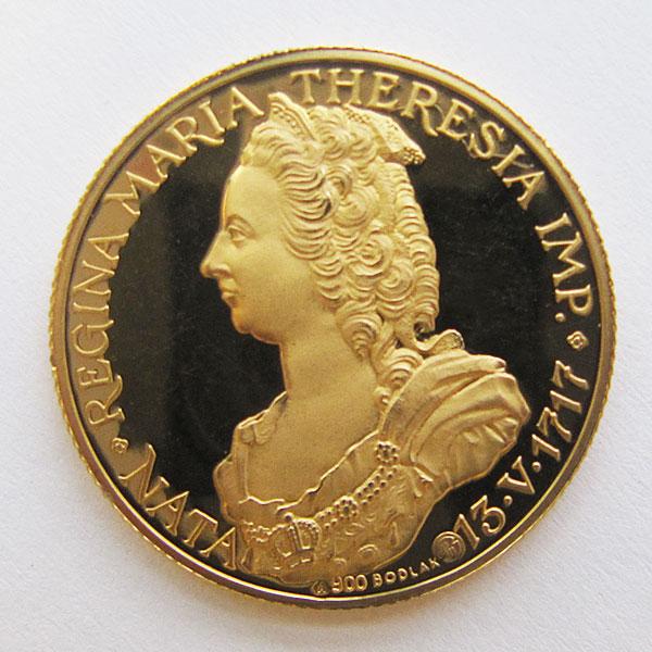 österreich Maria Theresia Gedenkmünze 900 Gold Aurum Edelmetallshop
