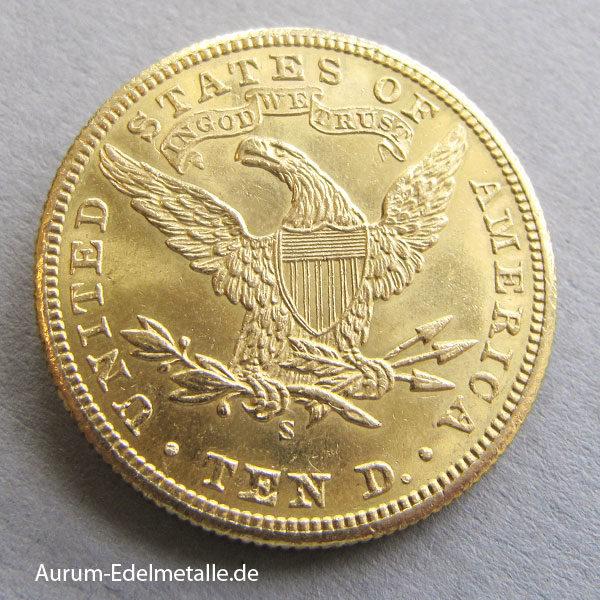 USA 10 Dollar Gold Eagle Liberty Head 1901