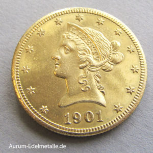 USA 10 Dollar Gold Eagle Liberty Head 1866-1907