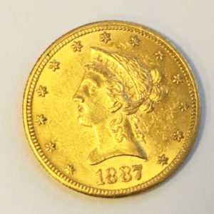USA 10 $ Dollars Gold Eagle Liberty Head 1887