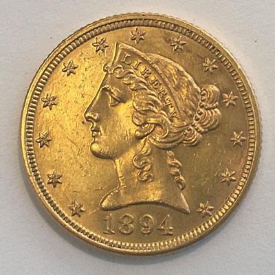 USA 5 Dollars Half Eagle 1894