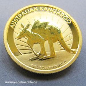 Australien 50 Dollars Kangaroo Nugget 1_2 OZ Feingold 9999 2011