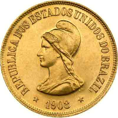 20000 Reis Republik Brasilien, 1908