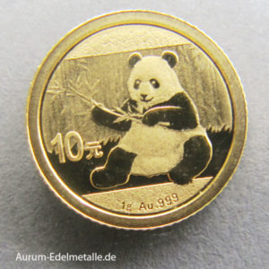 China Panda 10 Yuan 1_10oz Goldmünze 2017