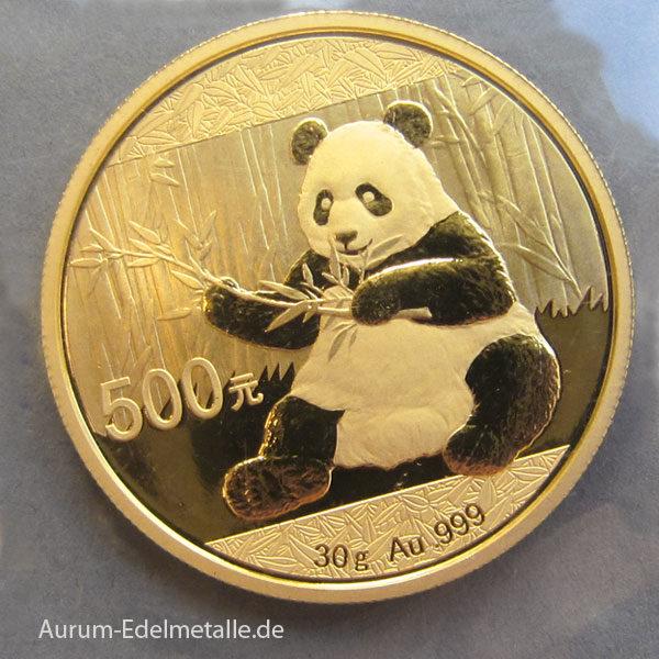 China Panda 500 Yuan 2017 Feingold 999 30g