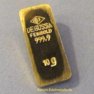 Goldbarren 10g