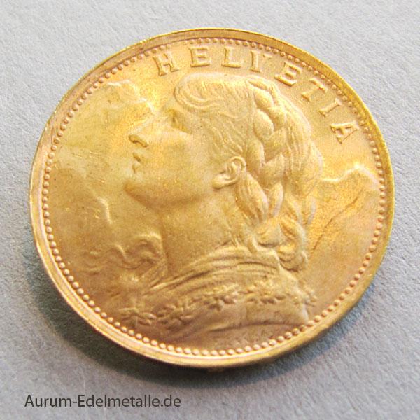 20 franken gold 1935