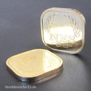 2g Goldbarren Superfeingold 999.99 Norddeutsche ES