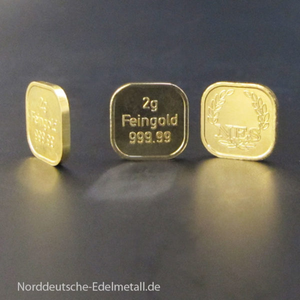 2 g Goldbarren Superfeingold 999 Norderstedt