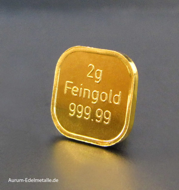 2g Goldbarren Superfeingold