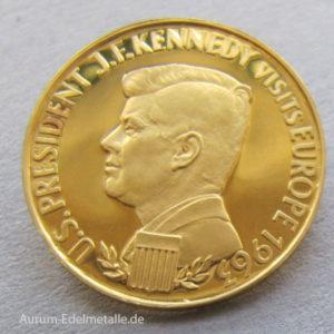 Aureus Magnus 1 Dukat Gold 1963 Kennedy