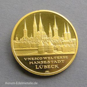 Deutschland 100 Euro UNESCO Welterbe Lübeck 2007 Goldmünze