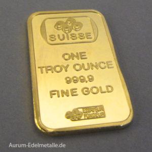 Goldbarren 1 oz PAMP Suisse Rose Gold Bar