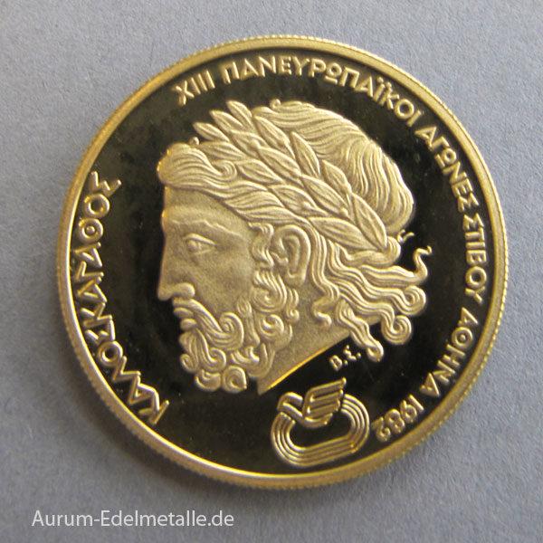 Griechenland 5000 Drachmen Goldmünze 1981
