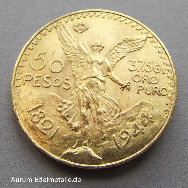 Mexiko 50 Pesos Centenario Gold 1944