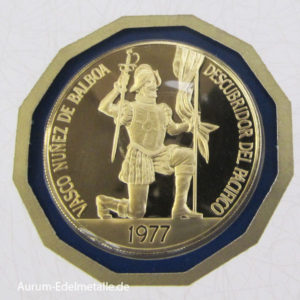 Panama 500 Balboas Gold 1977 Balboa
