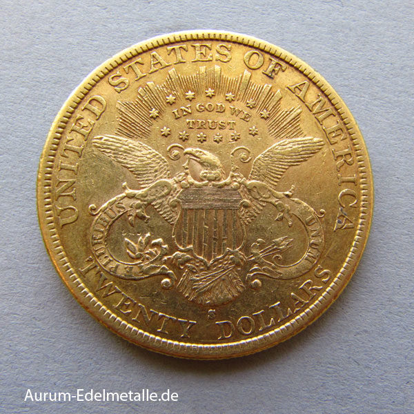 USA 20 Dollars Double Eagle Liberty Head Gold 1866-1907