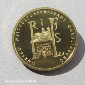 Deutschland-100-Euro-UNESCO-Weltkulturerbe-Quedlinburg-2003