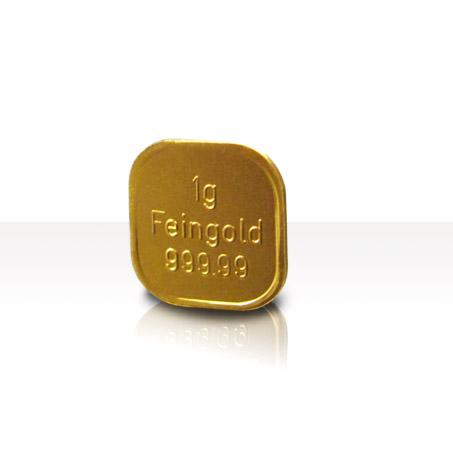 1g Goldbarren Superfeingold 999.99 Norddeutsche ES
