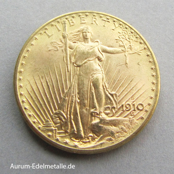 20 Dollars Saint Gaudens Double Eagle 1910 Gold