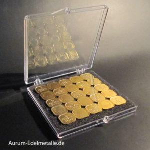 25 Gramm Tafelgold 1g Barren