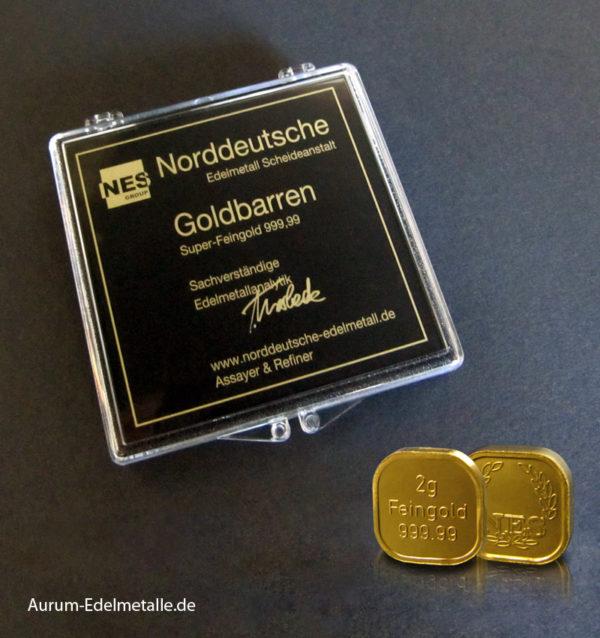 50 Gramm Tafelgold 2g Barren Superfeingold 99999