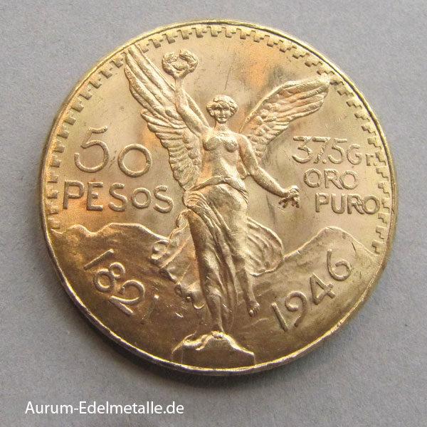 50 Pesos Centenario Goldmünze Mexiko