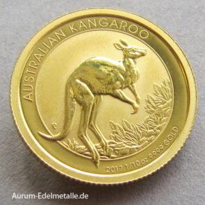 Australien Kangaroo 1/10 Oz Gold 2017